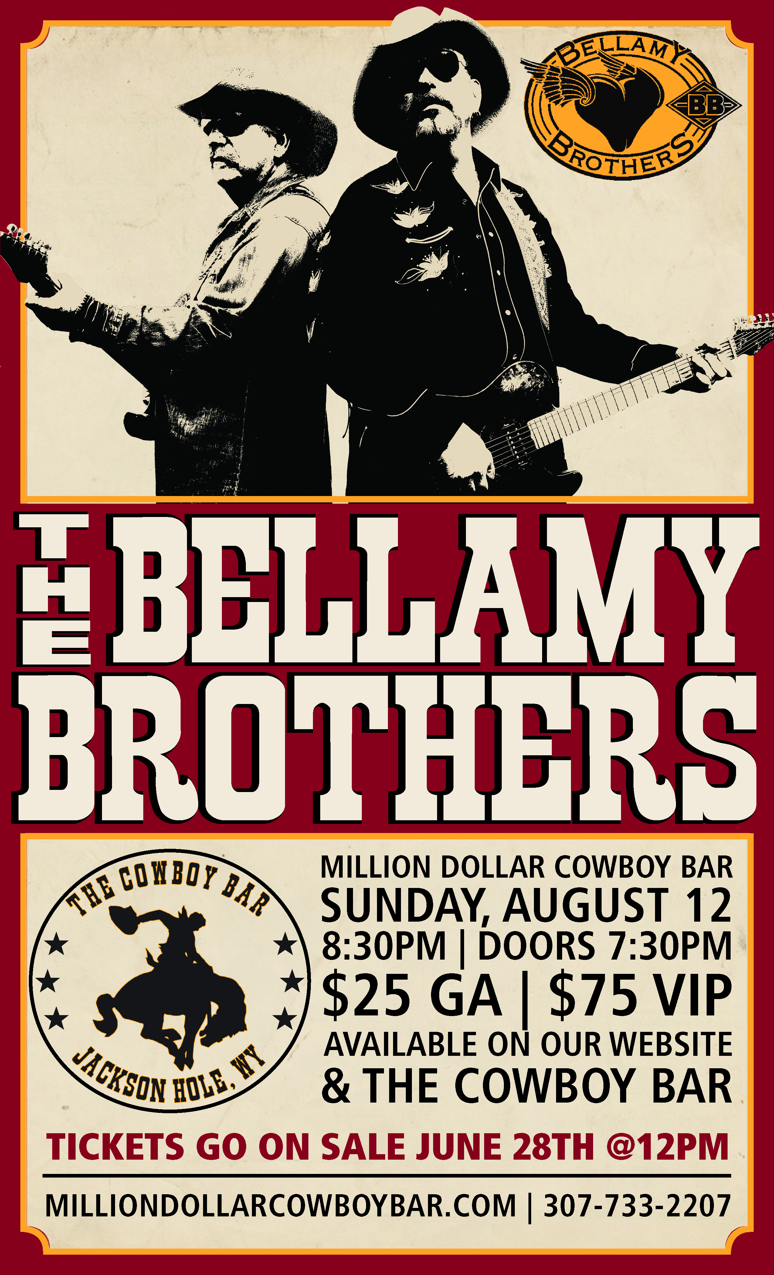 The Bellamy Brothers in Jackson Hole